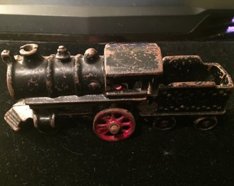 Antique Cast Iron Toy Train Locomotive