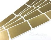 Gold 1 x 2 inch rectangle scratch off stickers
