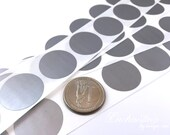 Silver 1 inch Round scratch off stickers