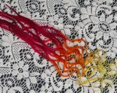 Hippie hair WILD FIRE stick tips Ombre extensions Festivals & fairs Ombre hair extensions Red high lights with flair!
