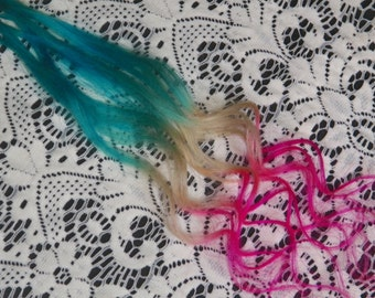 Hippie hair American Jeans stick tips Ombre extensions Festivals & fairs Ombre hair extensions Aqua highlights i tips