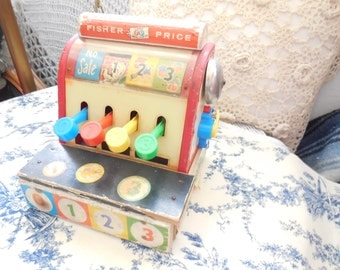 Vintage Very Old Fisher price Cash Register