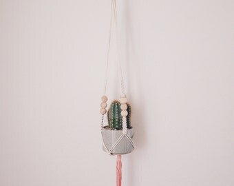 Mini Plant Hanger - Peach