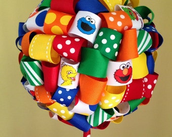 Sesame Street Ribbon Topiary