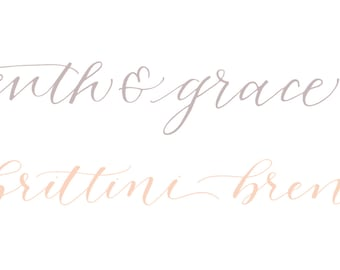 Custom Calligraphy Logo Deluxe Package