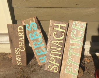 Various signs, signs, garden signs