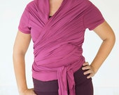 NEW! Yoga Wrap - Cap Sleeved Ballet Style Wraparound - Yoga Clothing (Size S/M)