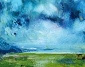 Grayton Coastal Impressionist Painting -- Fine Art Print