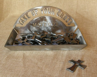 Set of Metal Pocket Crosses