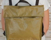 Green backpack, Notebook bag, Green leather backpack, College backpack, Work backpack, Everyday bag