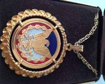 1970s Vintage BICENTENNIAL Pendant Necklace New Old Stock MIB U.S.Mint