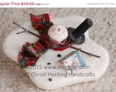 Christmas in July SALE Melting Snowman, Snowman with Frosty Book