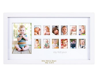 Baby's First Year Engraved Photo Frame