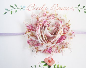 Lavender Floral Baby Headband, Baby Girl Headbands, Baby Bows, Infant Headbands, Infant Bows, Newborn Headbands
