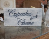 """RESERVED Custom  LISTING for LAURA @ bogart 141 Distressed Hand Painted Vintage Shabby Chic """"Candy Bar"""" Wood Sign"""