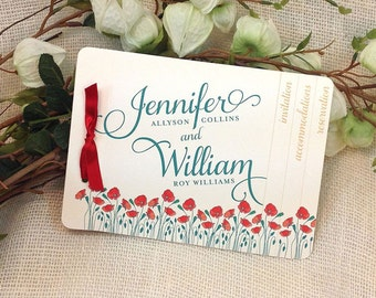 Poppy Wizard of Oz themed Wedding Booklet Livret Invitation: Get Started Deposit