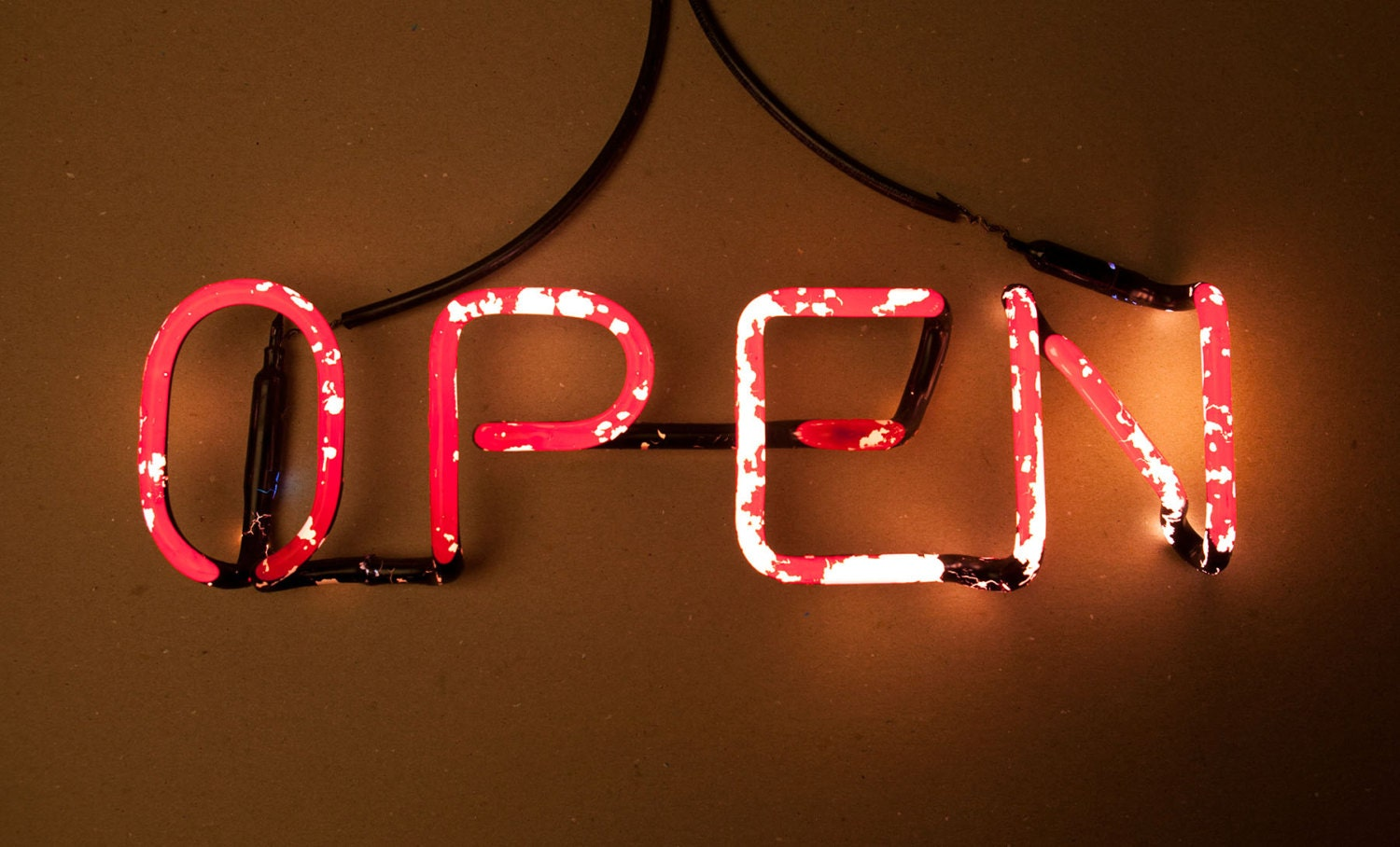 Open Old Vintage Neon Sign Very Cool Looks By Obscurearchive