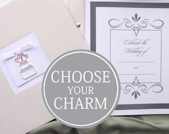 Wedding Memory Book / Wedding Book / Bride Keepsake Memory Photo Book Album  / Wedding Cake Charm