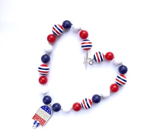 Fourth of July Necklace!