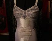 Vintage 1950s Off White Girdle Bodyshaper Lingerie Foundation Garment Small