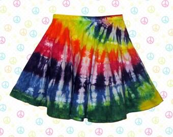 Tie-Dyed Rainbow Festival Skirt