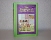 The Monsters of Marble Avenue by Linda Gondosch 1988, Signed First Edition, Vintage Book, Children's Book, Kid's Book, Green Book, 1980s