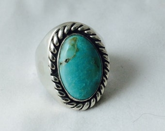 Turquoise Ring in Sterling size 10