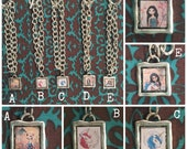 Hand Crafted Square Resin Charm Bracelets featuring whimsy square charms - hand made jewelry by LilliBean Designs - SHIPPING INCLUDED