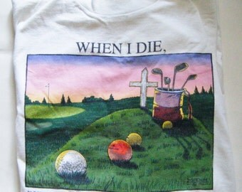 Vintage Funny T Shirt For Golf Play Size X Large