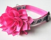 Hot Pink Flower Dog Collar Attachment