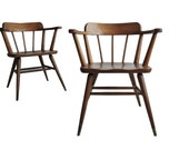 Pair of Mid Century Captain's Chairs. 4 chairs available