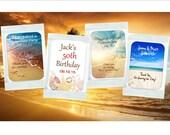 Margarita Mix Favors - personalized Beach Theme - set of 12 margarita mix packets - bridal shower, Birthday, Retirement