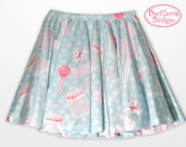 Candy Skirt Kawaii Fairy Kei Skirt Pastel Skater Skirt Konpeito Sweets Pastel Goth Size XS Through 3XL *PREORDER*