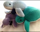 Handmade Terrence The Dapper Sea Turtle Plush