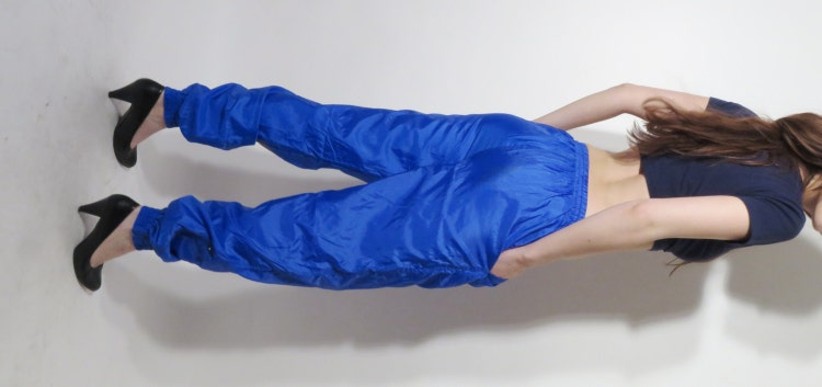 Vintage 90s Blue Nylon Pants Waterproof Pants By Justgiza