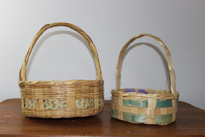 Vintage Easter Baskets Set of Two