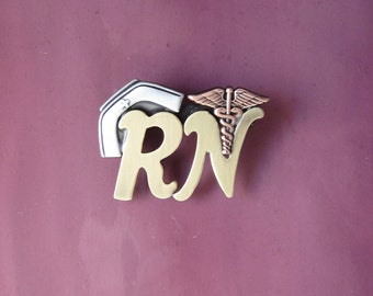 RN Brooch- RN Pin- Gifts for Nurses- Pinning Ceremony- RN Jewelry