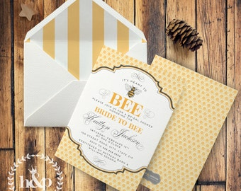 Vintage Inspired It's Meant to Bee Bridal Shower Invitation