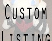 Custom Listing: Hawkeye and Bucky Barnes Plushies
