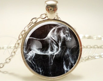Horse Pendant, Equestrian Necklace, Pony Jewelry (1879S1IN)