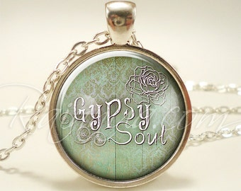 Bohemian Gypsy Soul Necklace, Boho Fashion Jewelry, Free Spirit Pendant (1898S1IN)