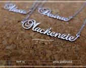 20% off //Font 15 // Custom name necklace - Personalized name necklace - gift wrapped.Bridesmaid//  X'mas-mother-graduation- Valentine gift