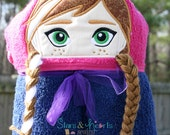 Snow Princess Hooded Towel- Personalized