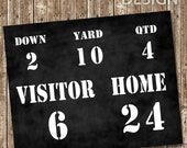 Football Party Scoreboard Sign - Instant Download