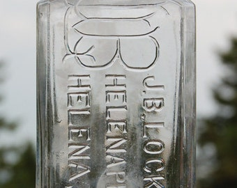 Antique HELENA PHARMACY bottle, J B  Lockwood MONTANA era 1890's