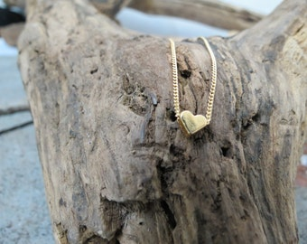 Heart pendant , gold filled necklace, Dainty necklace, Heart charm necklace, Valentine gifts, heart necklace