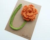 Pumpkin Pacifier Clip--Crochet Flower pacifier clip--Baby Girl accessories--MAM adapter--Sweetlace Shop