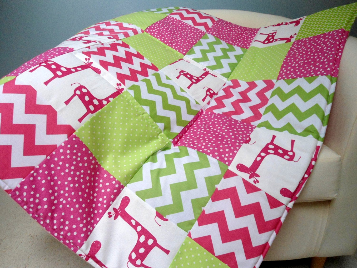 baby play mat padded floor blanket personalize pink green