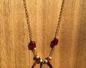Boho dangle spike necklace