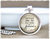 Though She Be But Little • Shakespeare Quote Jewelry • Gifts For Sisters • Book Lover Gift • Literary Jewelry
